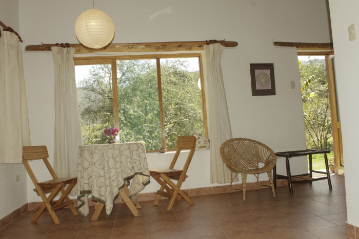 Interior View Bungalow - Andean Spirit Lodge