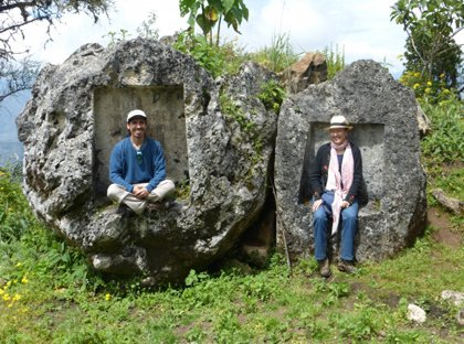 Oda & Armando at the Inca site of Choquechurco
