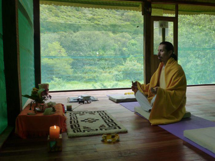 Meditation at the lodge