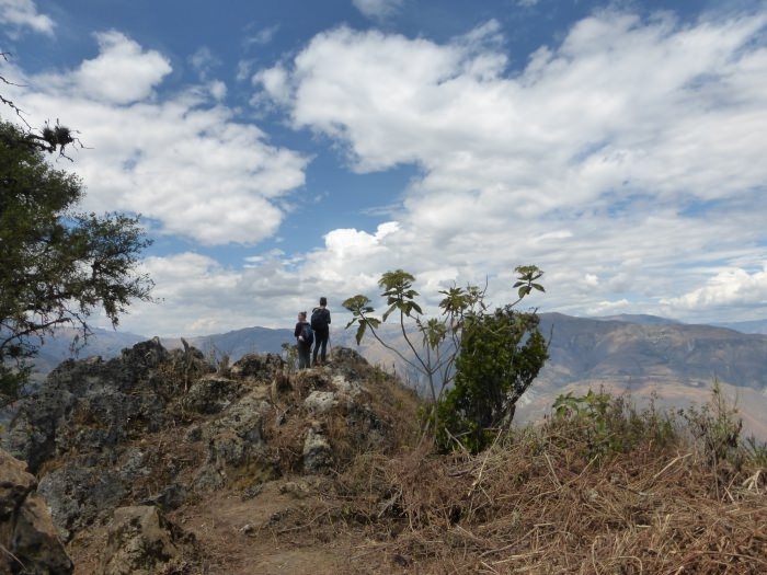 Enjoying the view from the hidden Inca ruins of Choquechurco