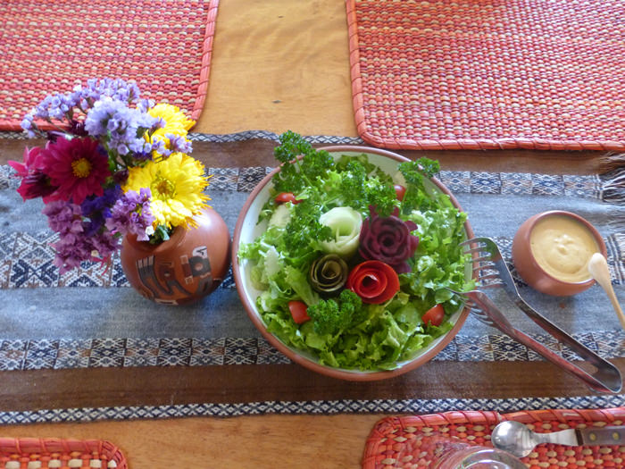 Veggie Garden Food - Andean Spirit Lodge
