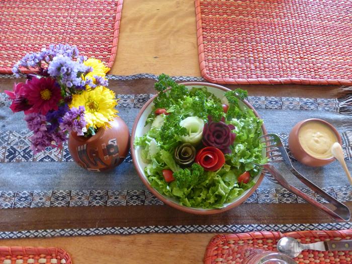 Garten Salat - Andean Spirit Lodge