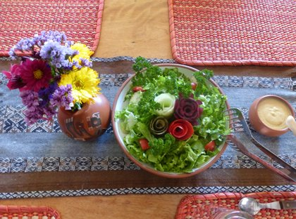 Garden Meal - Andean Spirit Lodge