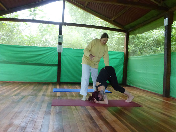 Yoga class at the Andean Spirit Lodge